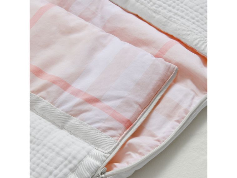 Quilted Cotton Baby Nest in Ice Pink | Burberry - cell image 1