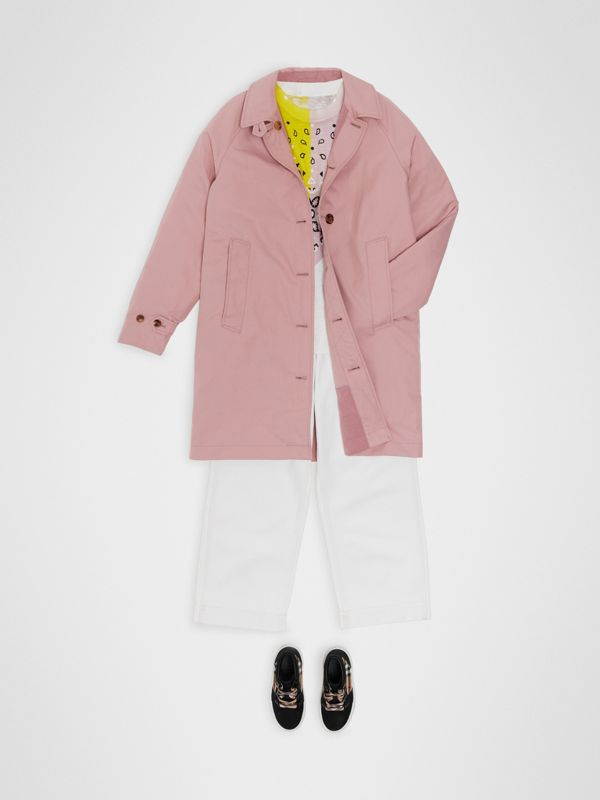 Reversible Tropical Gabardine Car Coat in Chalk Pink | Burberry Canada - cell image 2