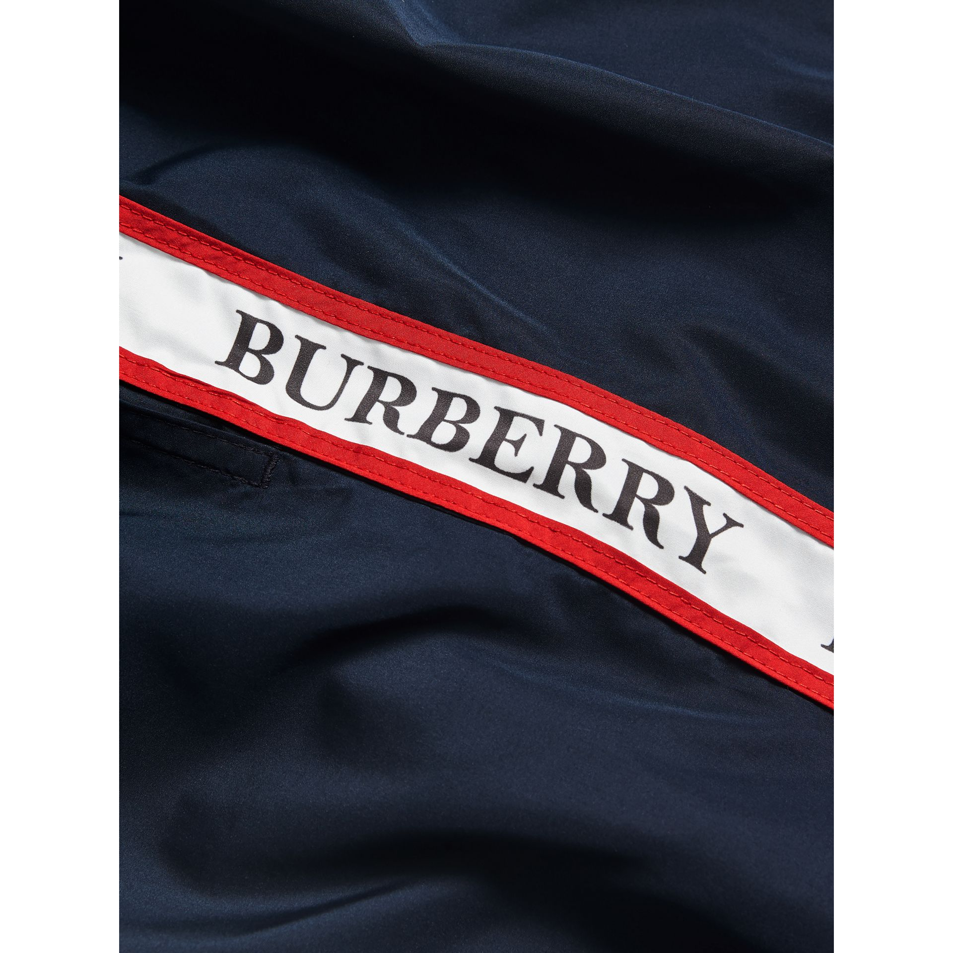 Drawcord Swim Shorts in Navy - Men | Burberry Hong Kong - gallery image 1