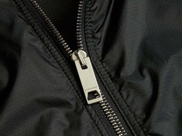 Dark navy Ultra-lightweight Two-tone Jacket with Hood - cell image 1