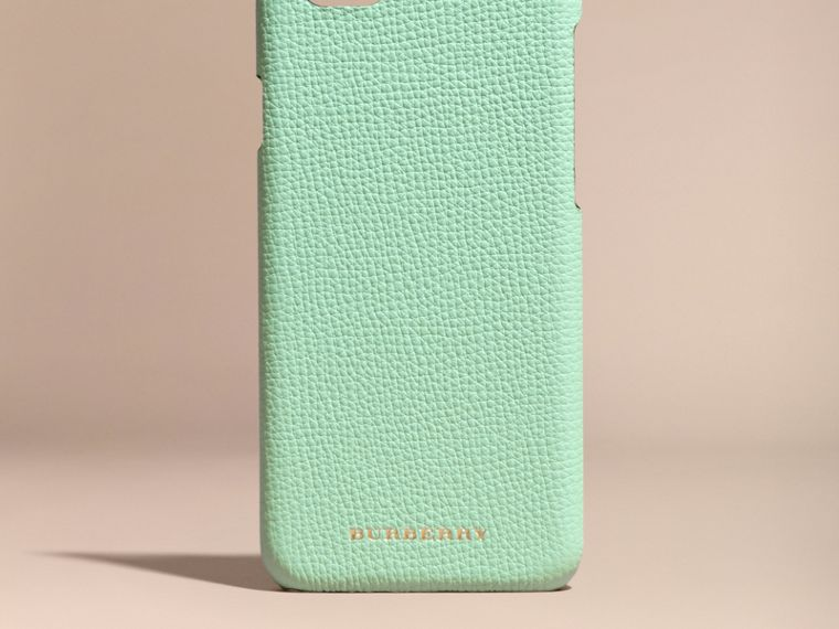 Grainy Leather iPhone 6 Case in Light Mint - Women | Burberry - cell image 4