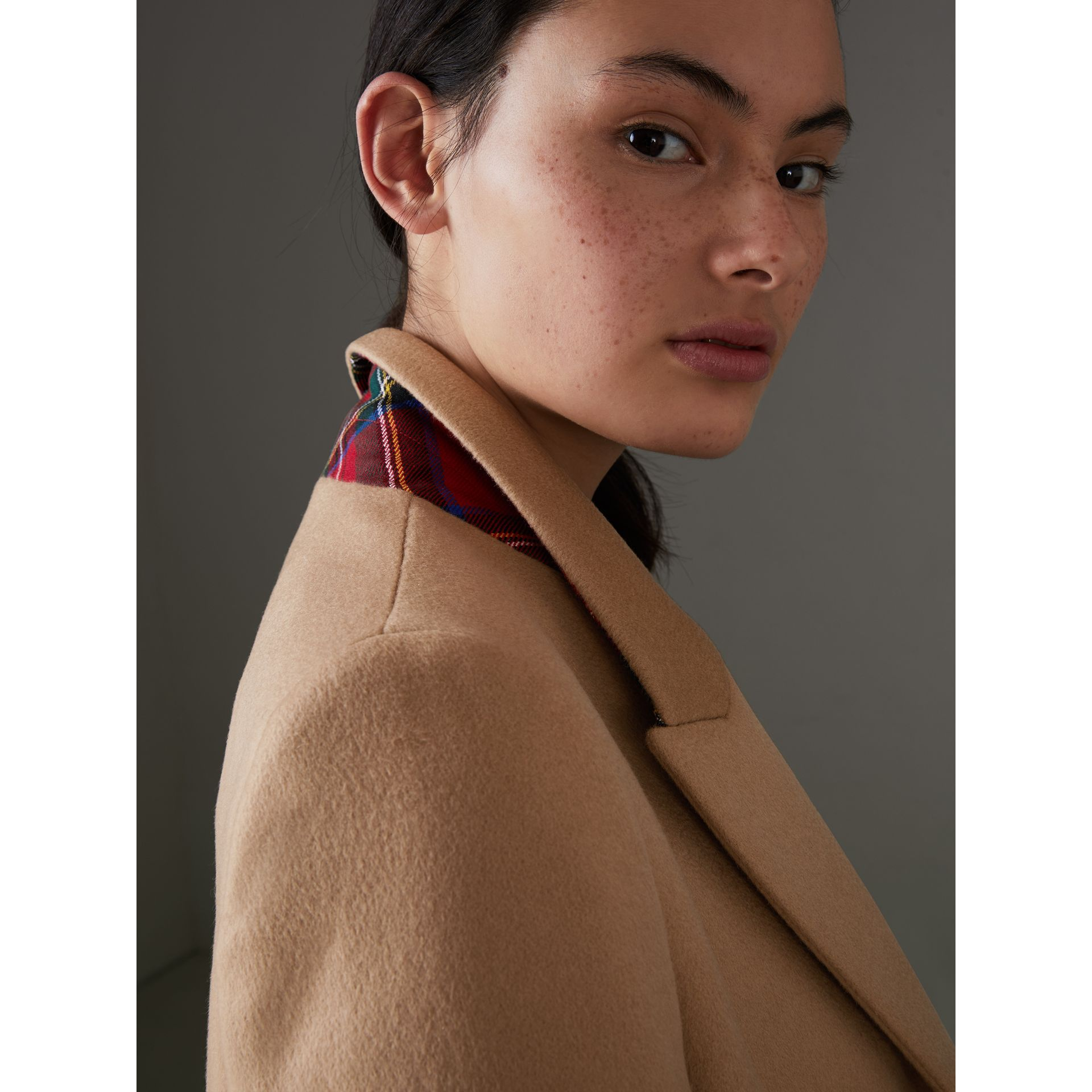 Wool Cashmere Tailored Coat in Camel - Women | Burberry - gallery image 4
