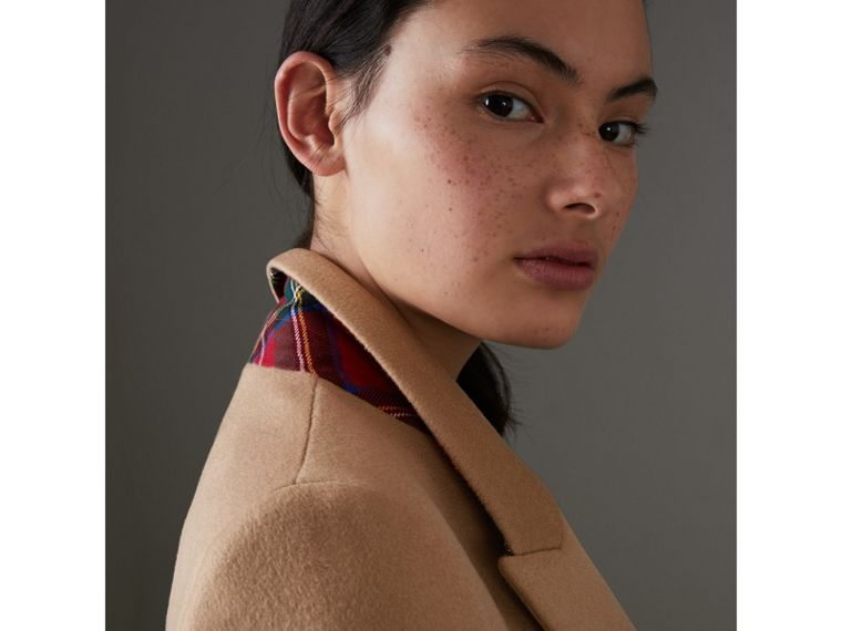 Wool Cashmere Tailored Coat in Camel - Women | Burberry - cell image 4