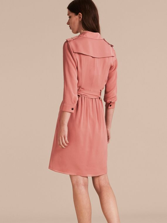 Silk Trench Dress Light Copper Pink - cell image 2