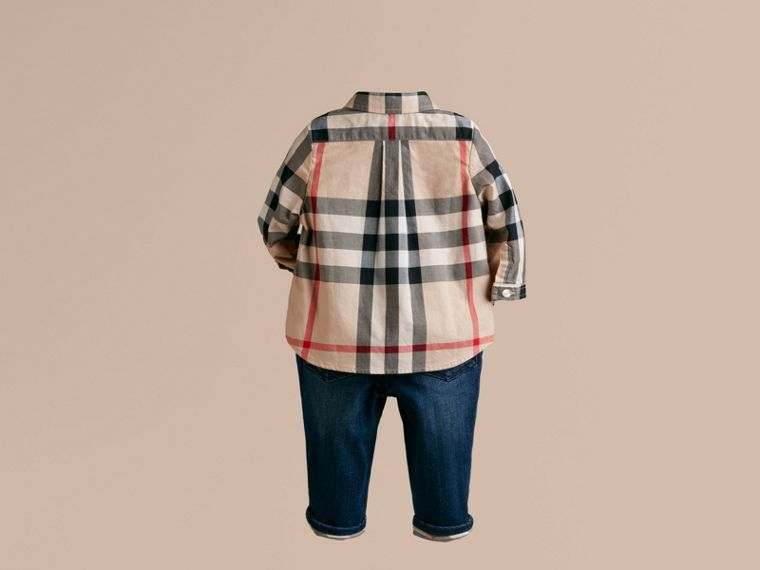 Camicia in cotone check (New Classic) - Bambino | Burberry - cell image 1