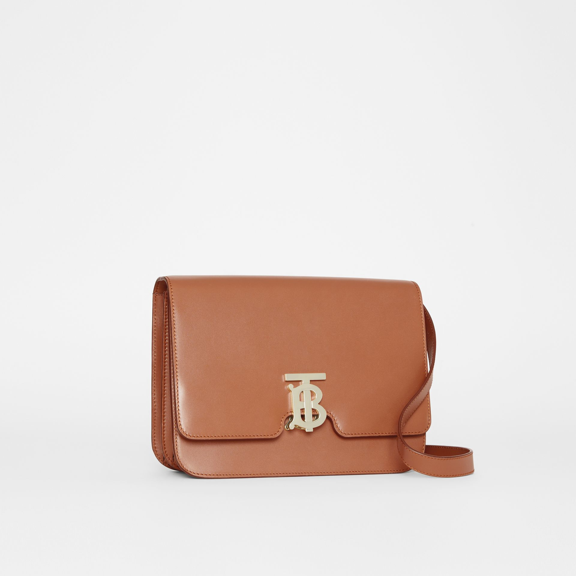Medium Leather TB Bag in Malt Brown - Women | Burberry - gallery image 6