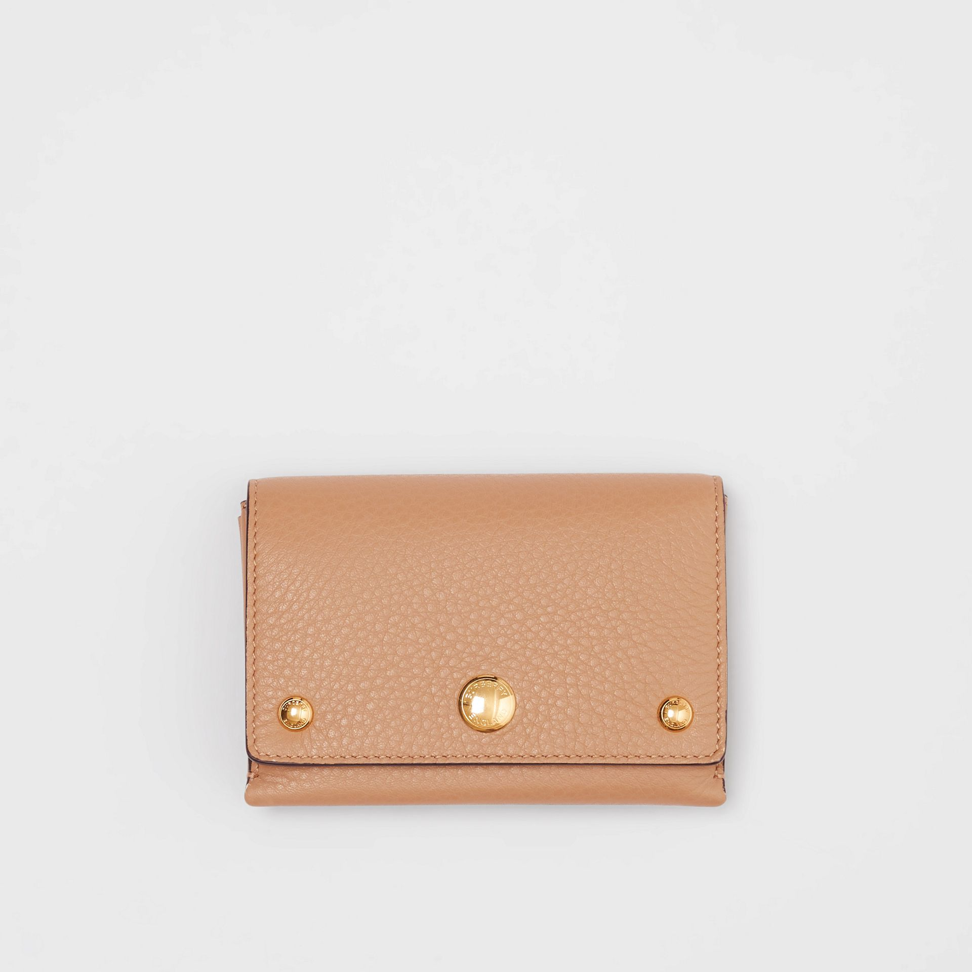 Triple Stud Leather Folding Wallet in Light Camel - Women | Burberry United Kingdom - gallery image 0