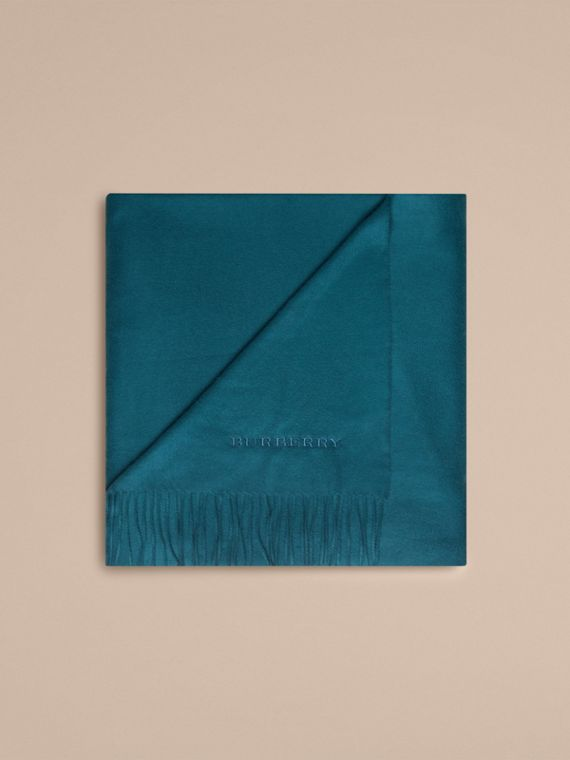 Cashmere Blanket in Dark Teal | Burberry United Kingdom - cell image 3