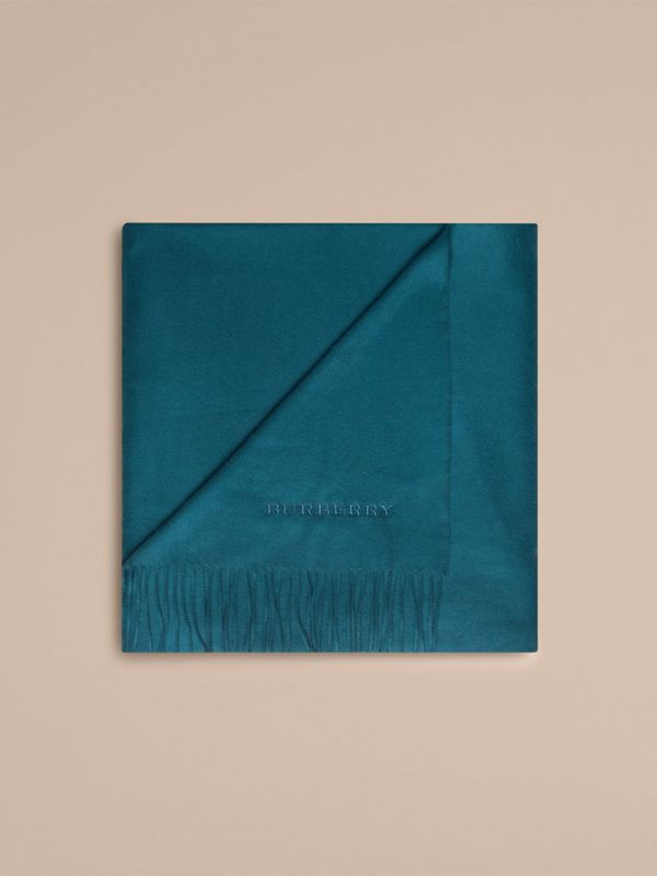 Cashmere Blanket in Dark Teal | Burberry United States - cell image 3