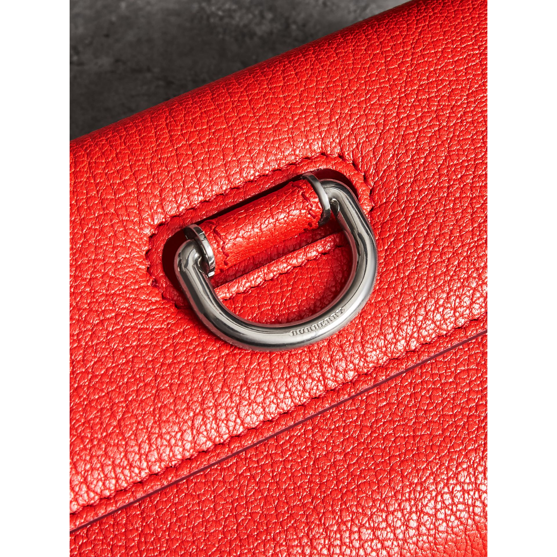 D-ring Grainy Leather Continental Wallet in Bright Red - Women | Burberry - gallery image 1