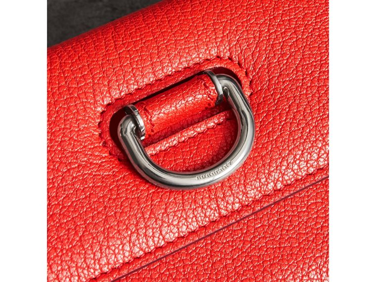 D-ring Grainy Leather Continental Wallet in Bright Red - Women | Burberry - cell image 1