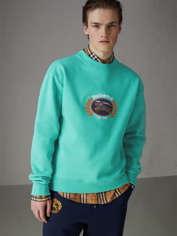 Sweat-shirt en jersey revisité (Aqua)