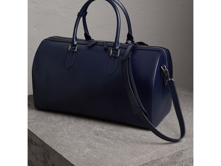 London Leather Holdall in Dark Navy - Men | Burberry Canada - cell image 4