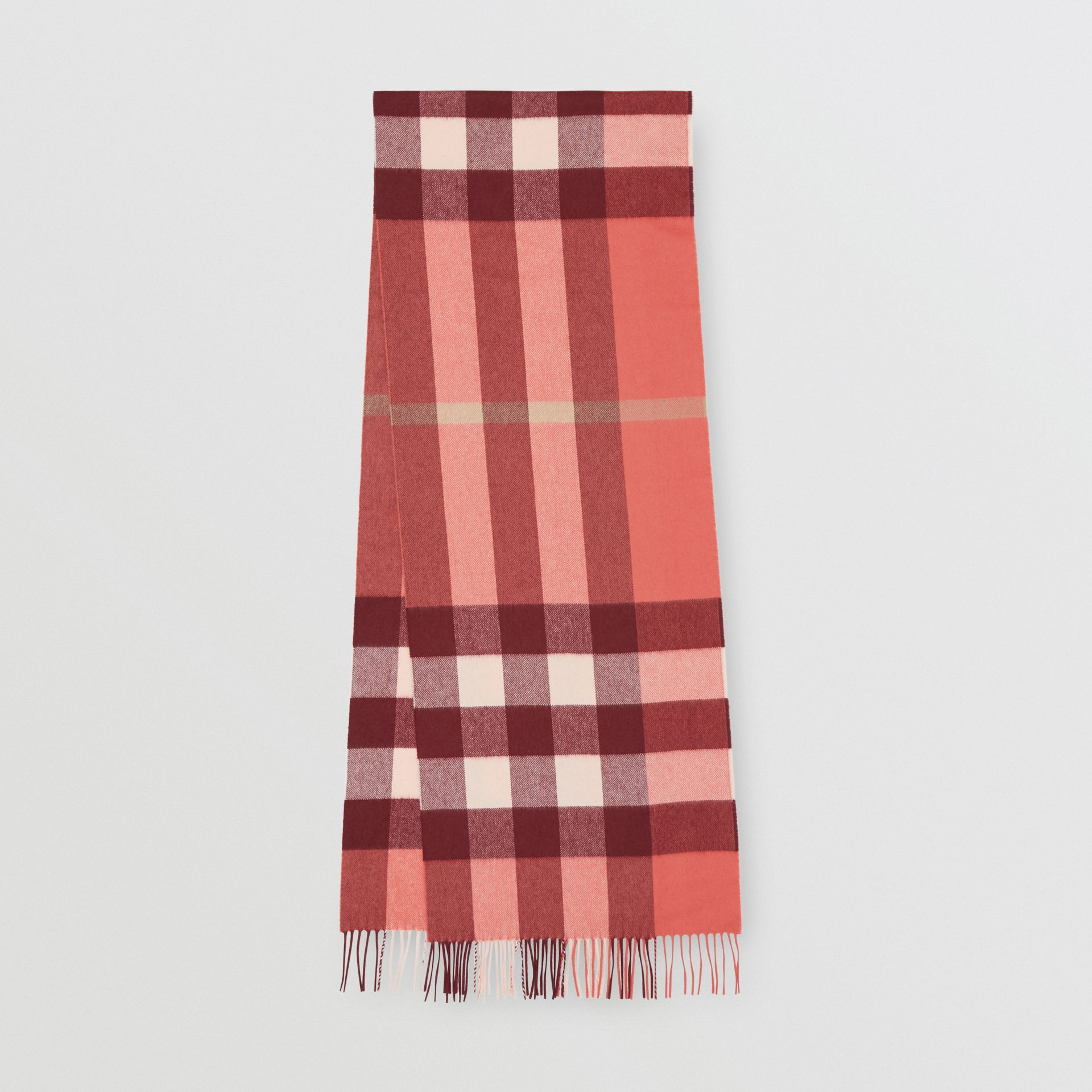 Check Cashmere Scarf in Clay Sienna | Burberry - gallery image 0