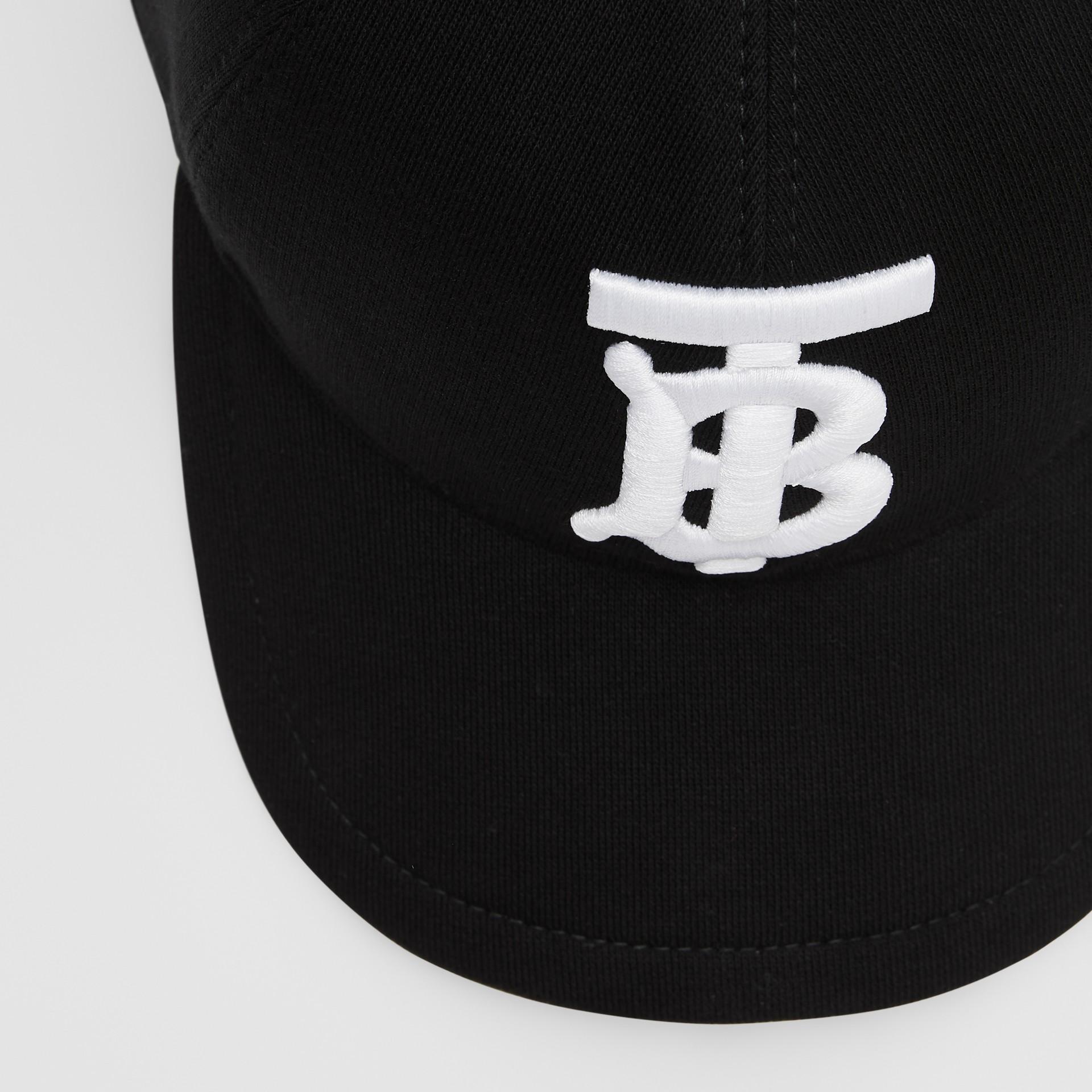 Monogram Motif Baseball Cap in Black | Burberry - gallery image 1