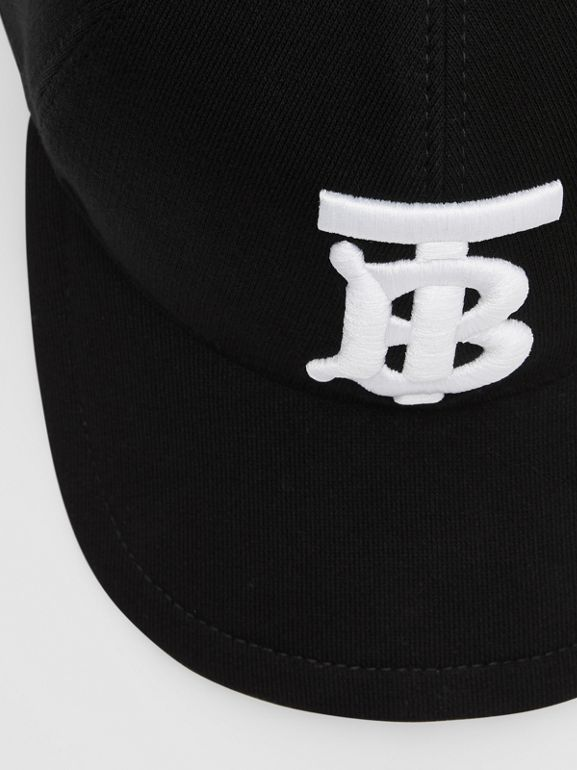 Monogram Motif Baseball Cap in Black | Burberry - cell image 1