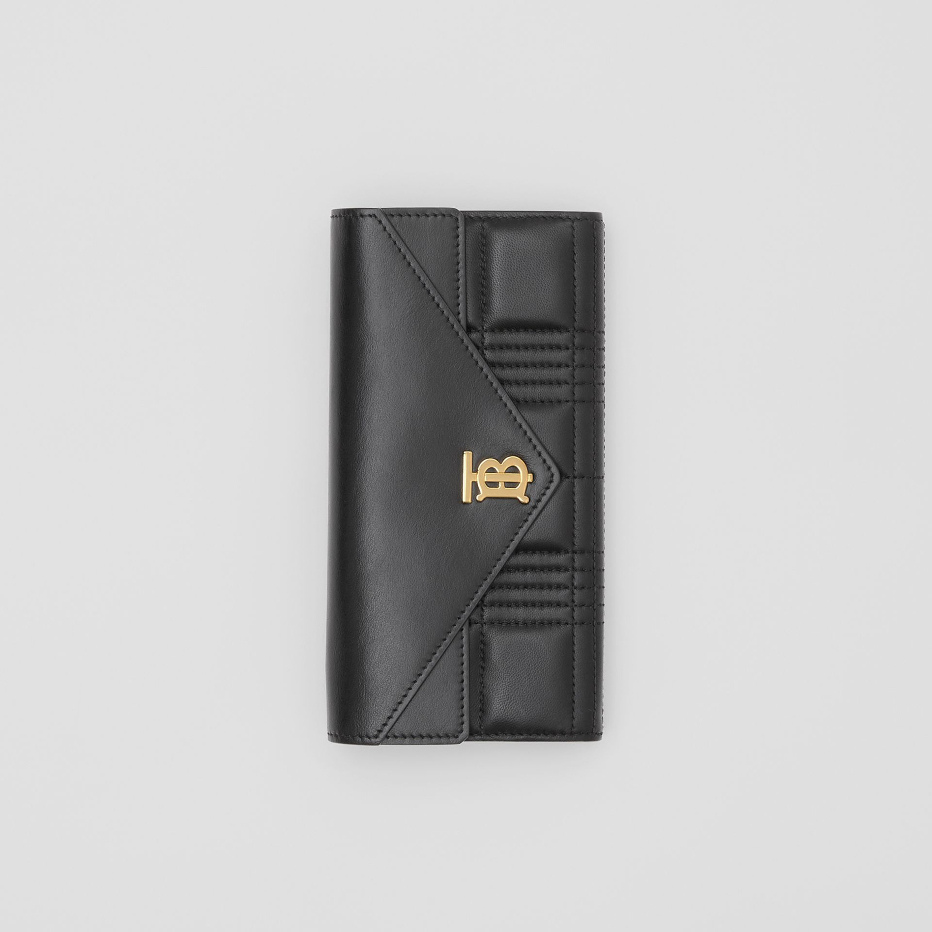 Monogram Motif Quilted Continental Wallet in Black - Women | Burberry United Kingdom - gallery image 2