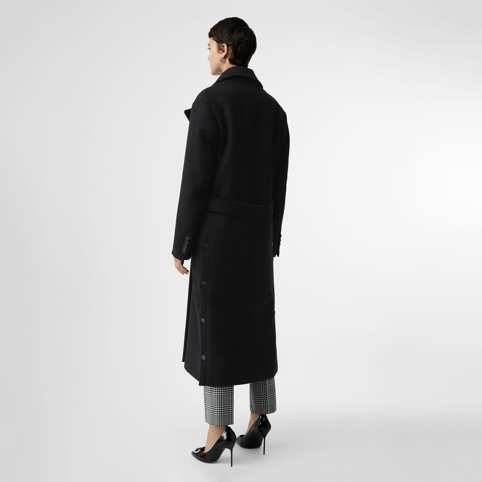 Double-faced Cashmere Tailored Coat in Black - Women | Burberry - gallery image 2