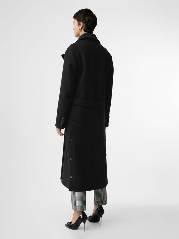 Double-faced Cashmere Tailored Coat in Black - Women | Burberry Canada - cell image 2
