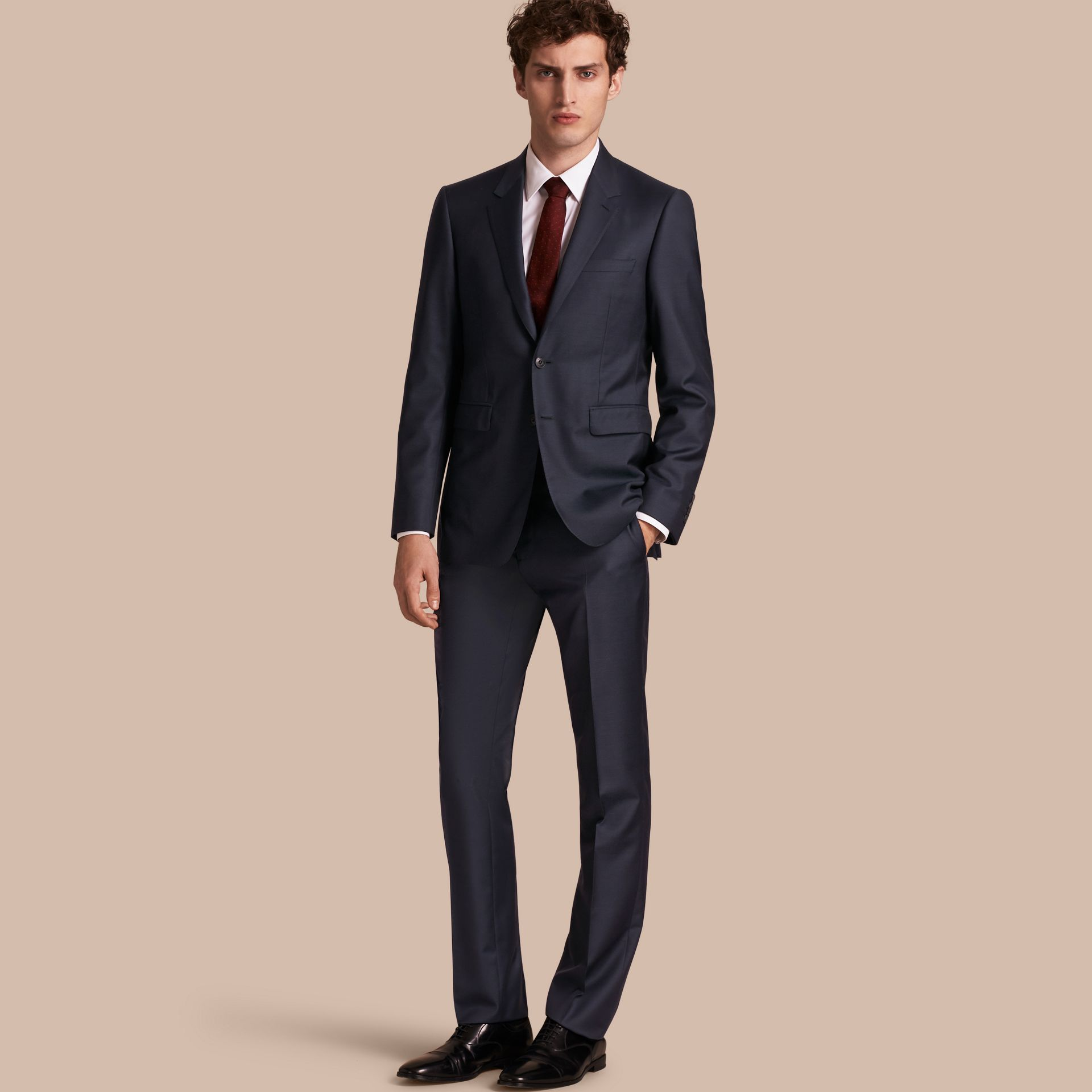 Modern Fit Wool Silk Full-canvas Suit - gallery image 1