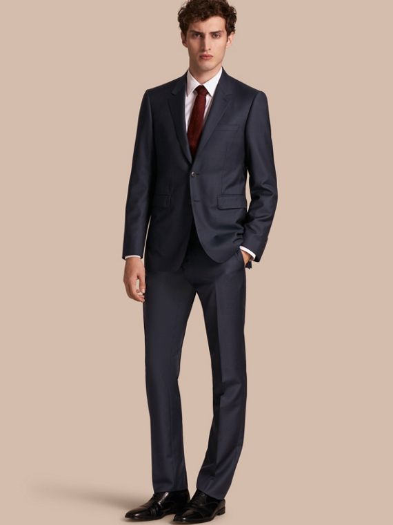 Modern Fit Wool Silk Full-canvas Suit