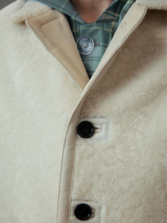 Shearling Jacket in White - Men | Burberry - cell image 1