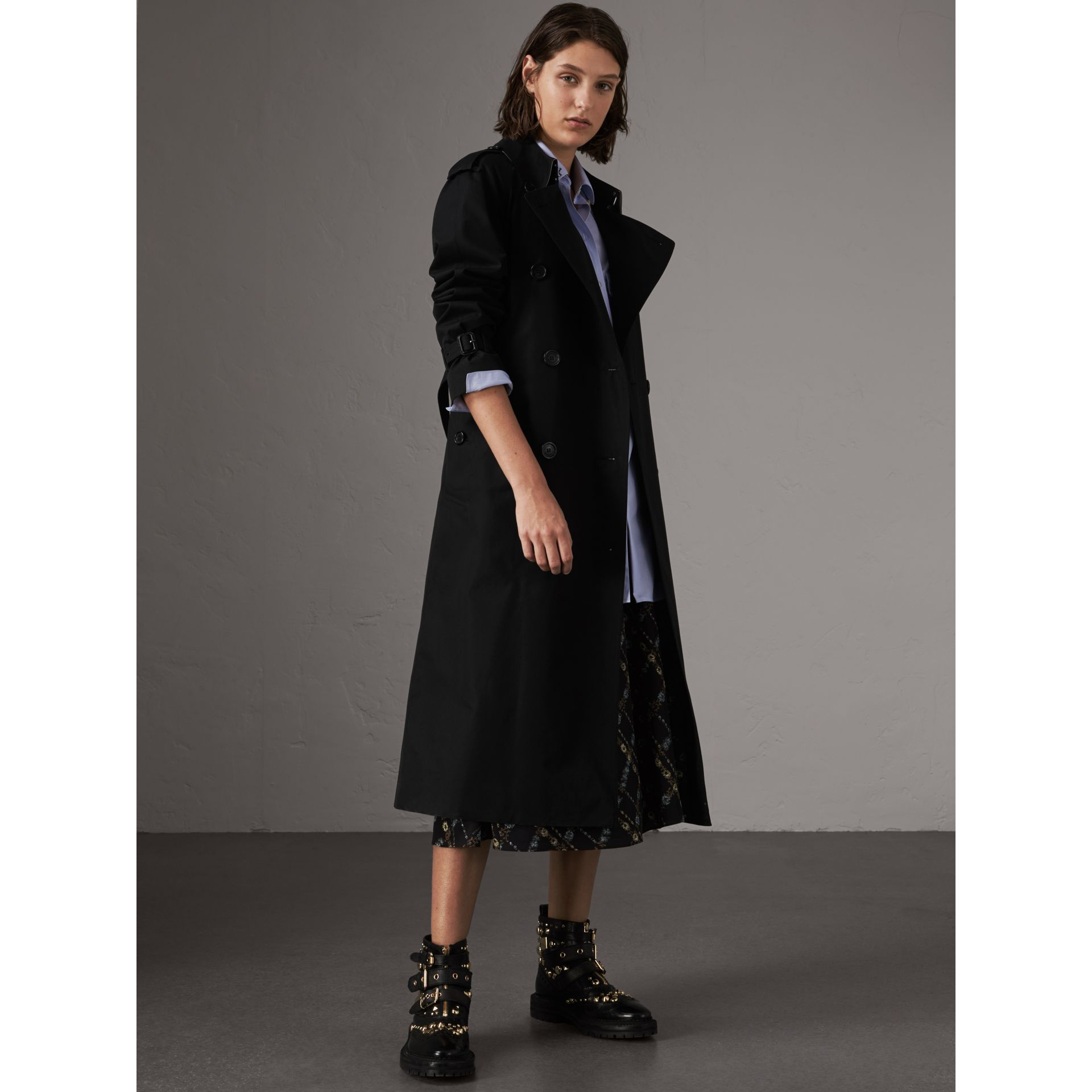 The Westminster – Extra-long Trench Coat in Black - Women | Burberry United Kingdom - gallery image 7