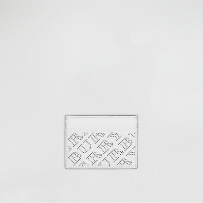 Perforated Logo Leather Card Case by Burberry