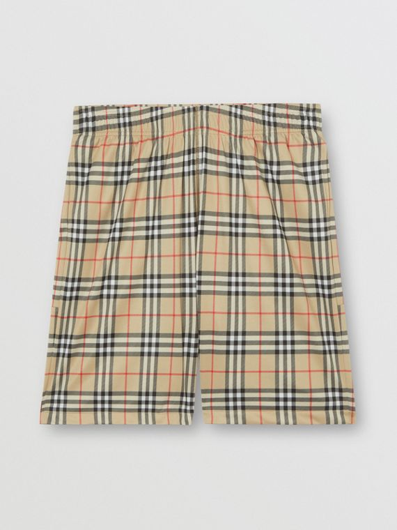 Vintage Check Technical Twill Shorts in Archive Beige