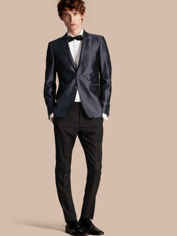 Slim Fit Tailored Silk Jacket
