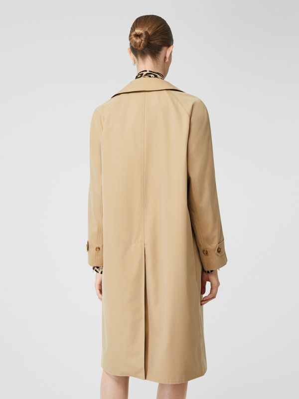 Leopard Print-lined Cotton Gabardine Car Coat in Honey - Women | Burberry Australia - cell image 2