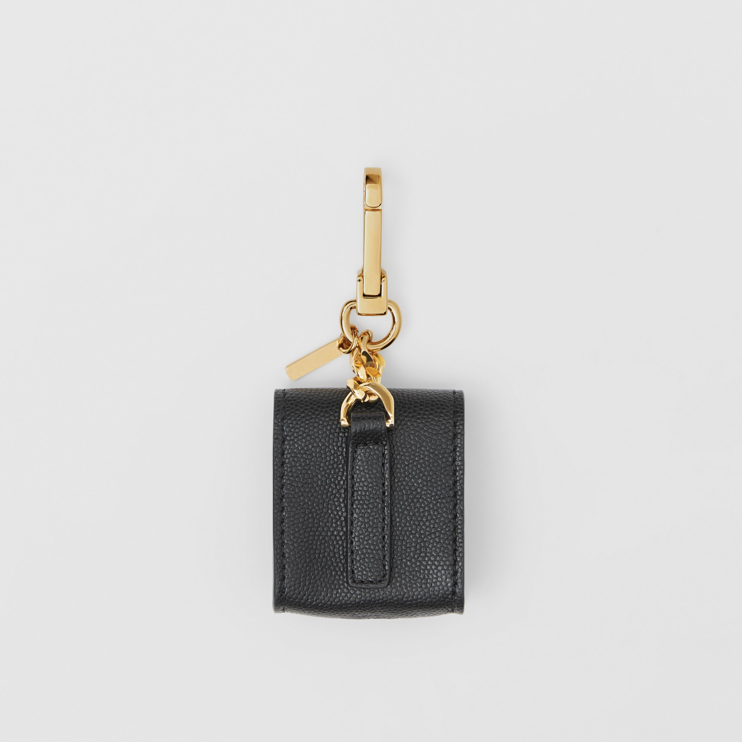 Grainy Leather AirPods Case in Black | Burberry - 4