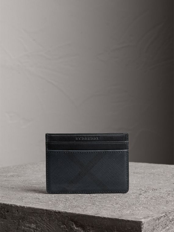 London Check Card Case in Navy/black - Men | Burberry - cell image 3