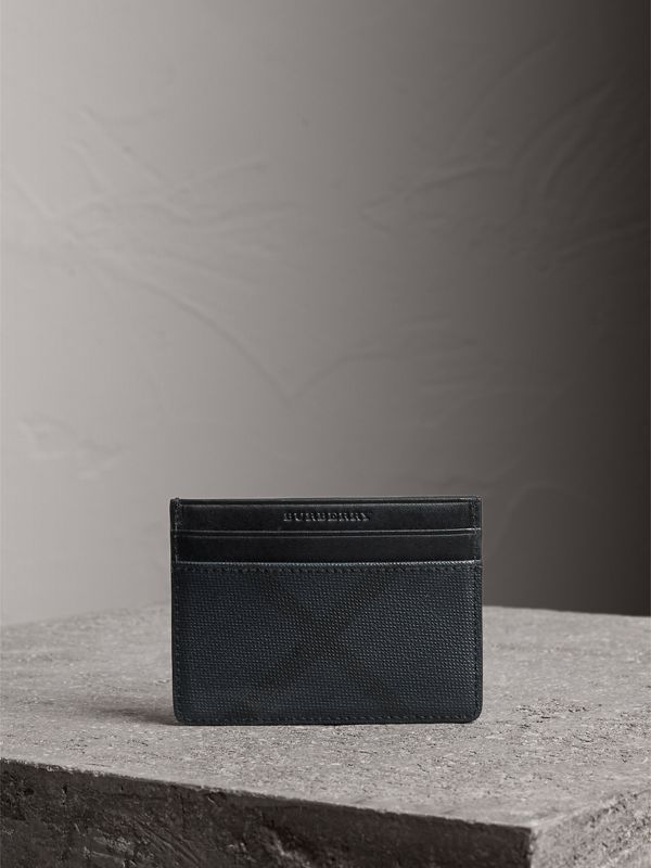 London Check Card Case in Navy/black | Burberry - cell image 3