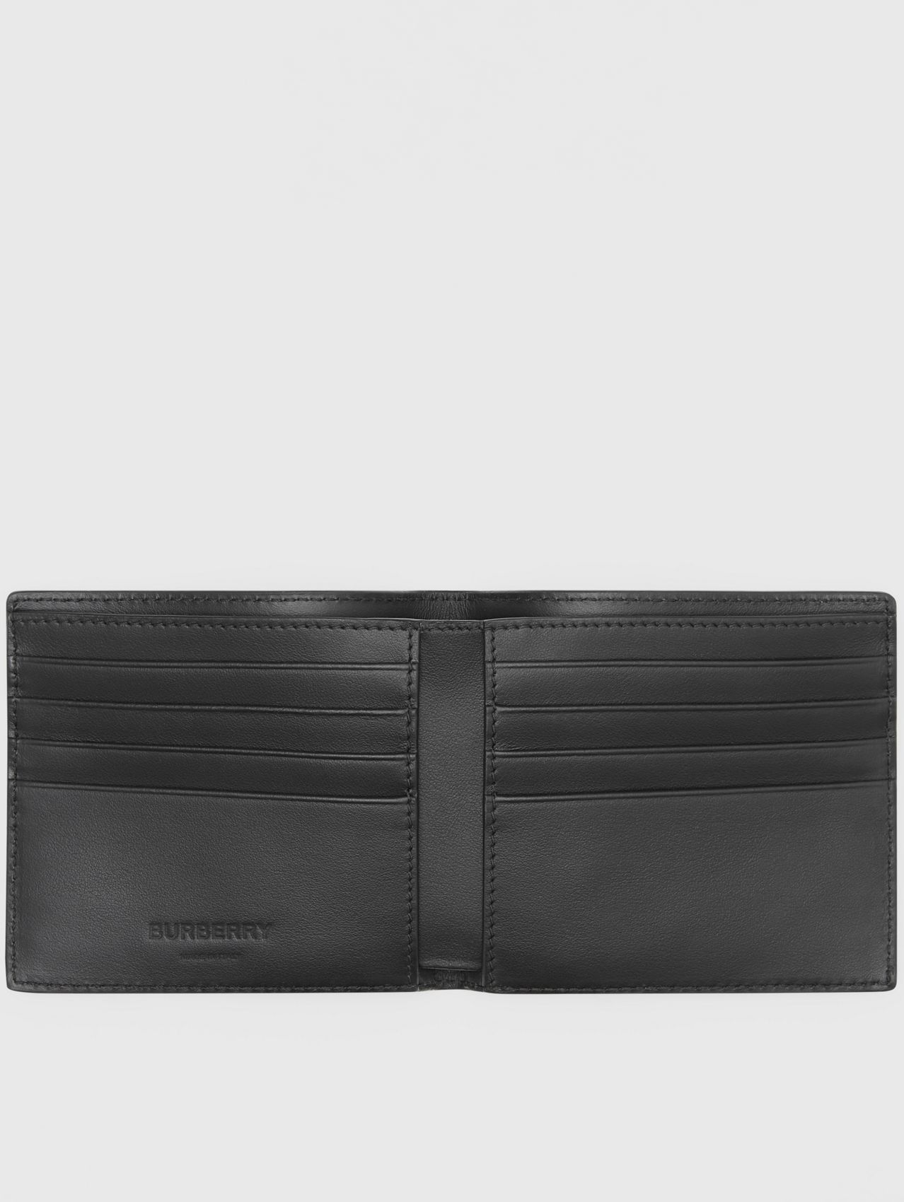 Symbol Print Leather International Bifold Wallet in Black