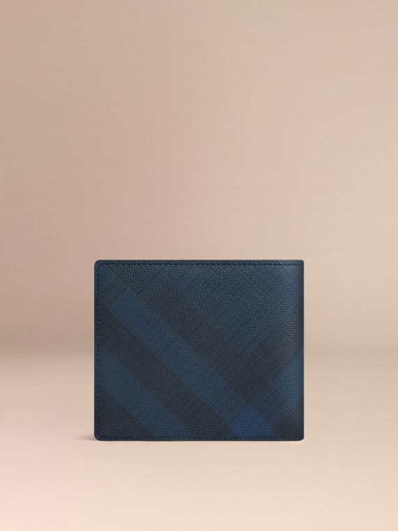 London Check ID Wallet in Navy/black - cell image 2