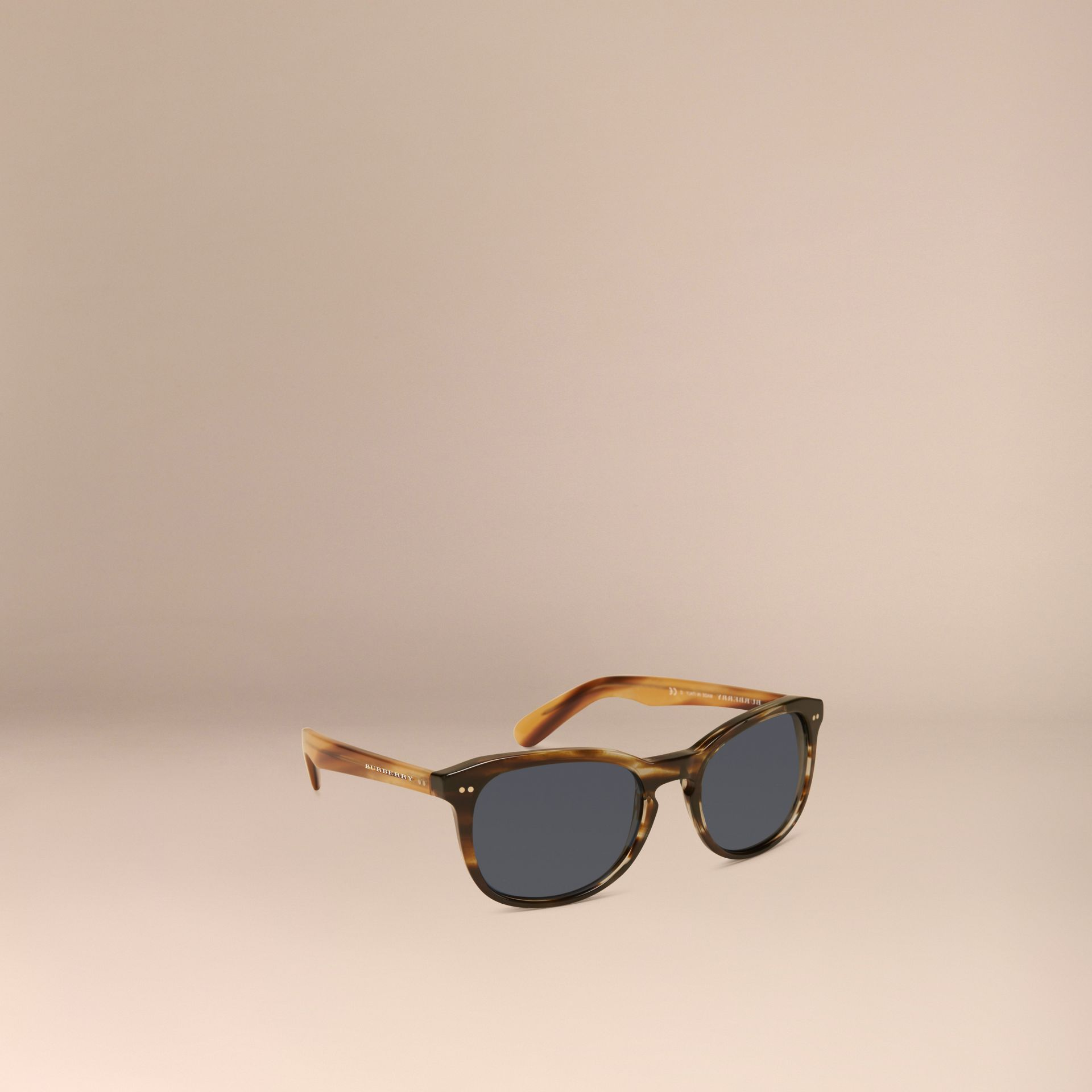 Dark brown horn Square Frame Sunglasses Dark Brown Horn - gallery image 1