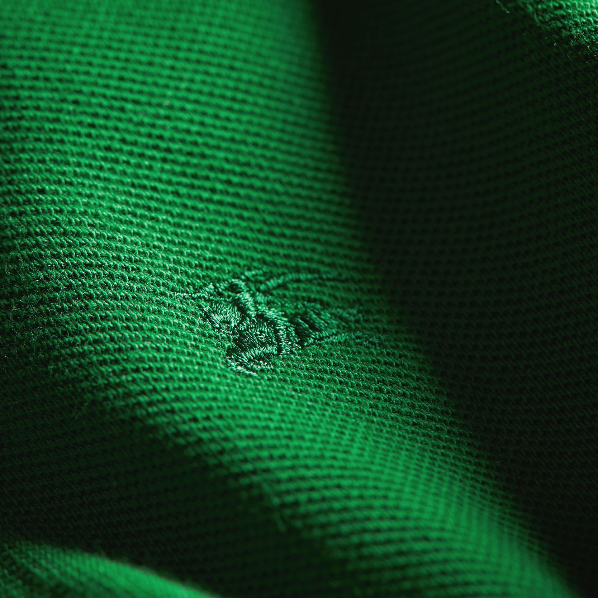Check Placket Polo Shirt in Pigment Green - Boy | Burberry - gallery image 2