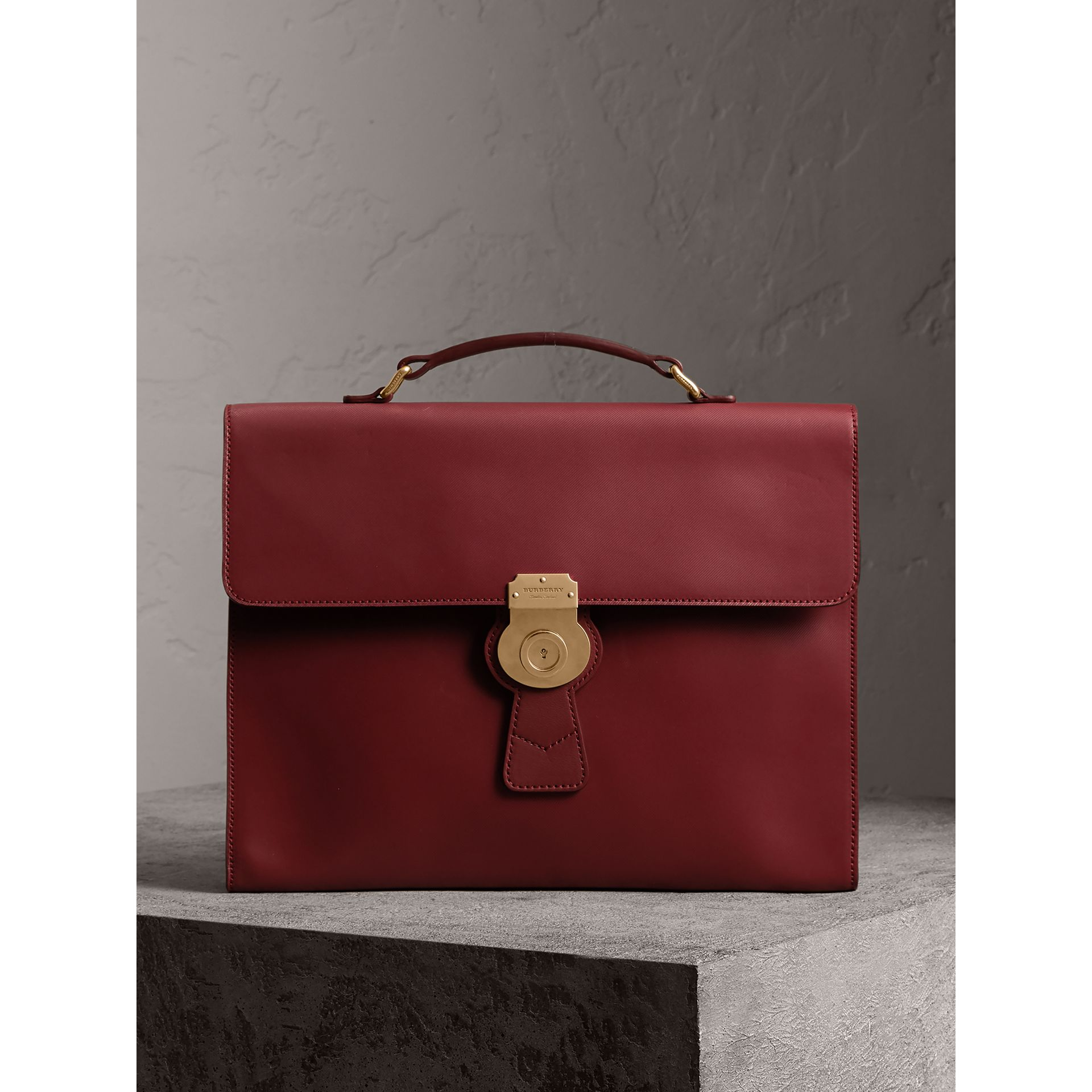 The Large DK88 Document Case in Antique Red - Men | Burberry - gallery image 0