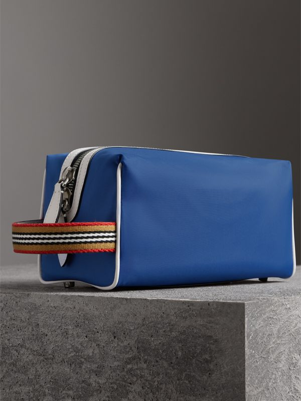Heritage Ribbon Detail Nylon Pouch in Dark Canvas Blue | Burberry - cell image 2