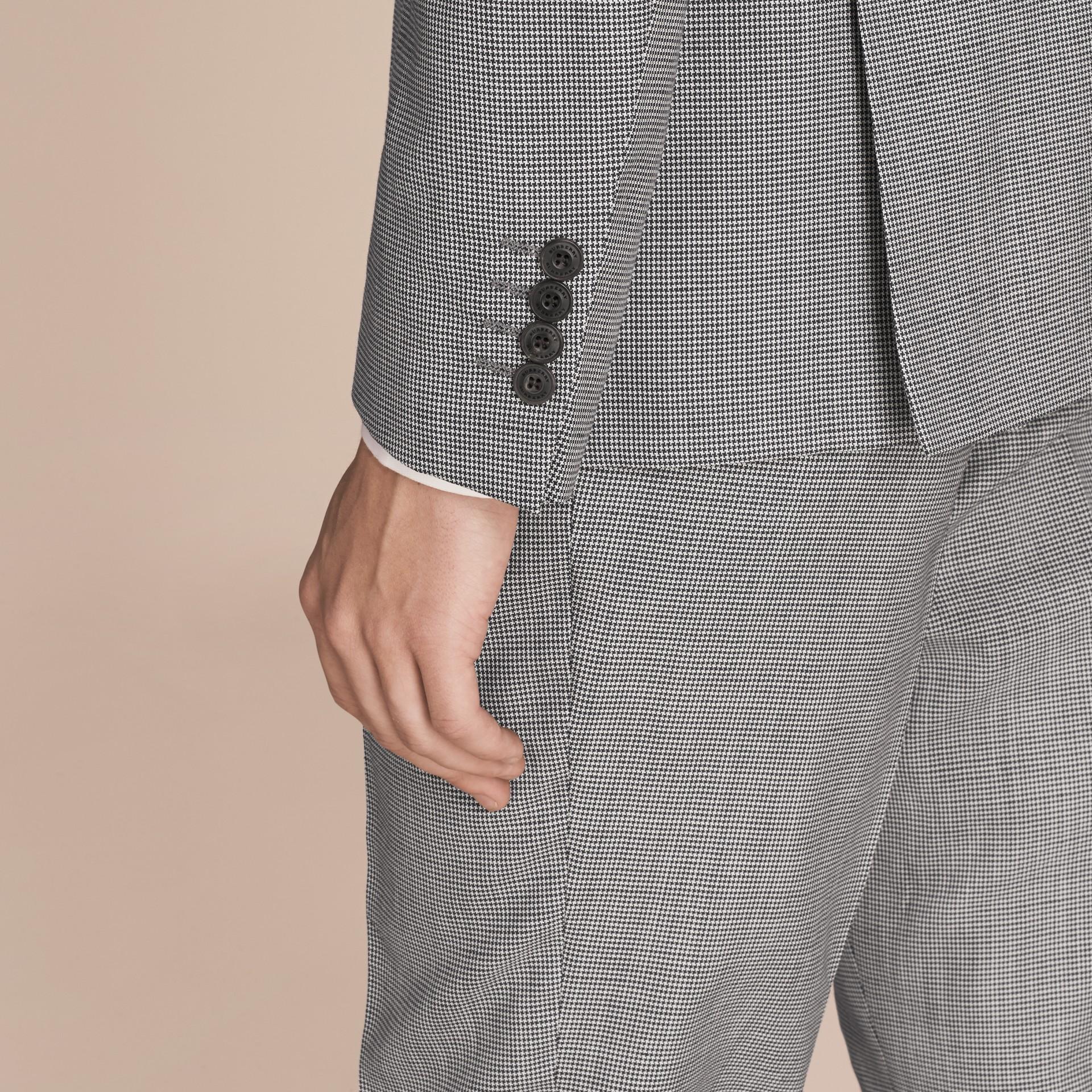 Чернильный Костюм из смесовой ткани с узором в гусиную лапку - изображение 5