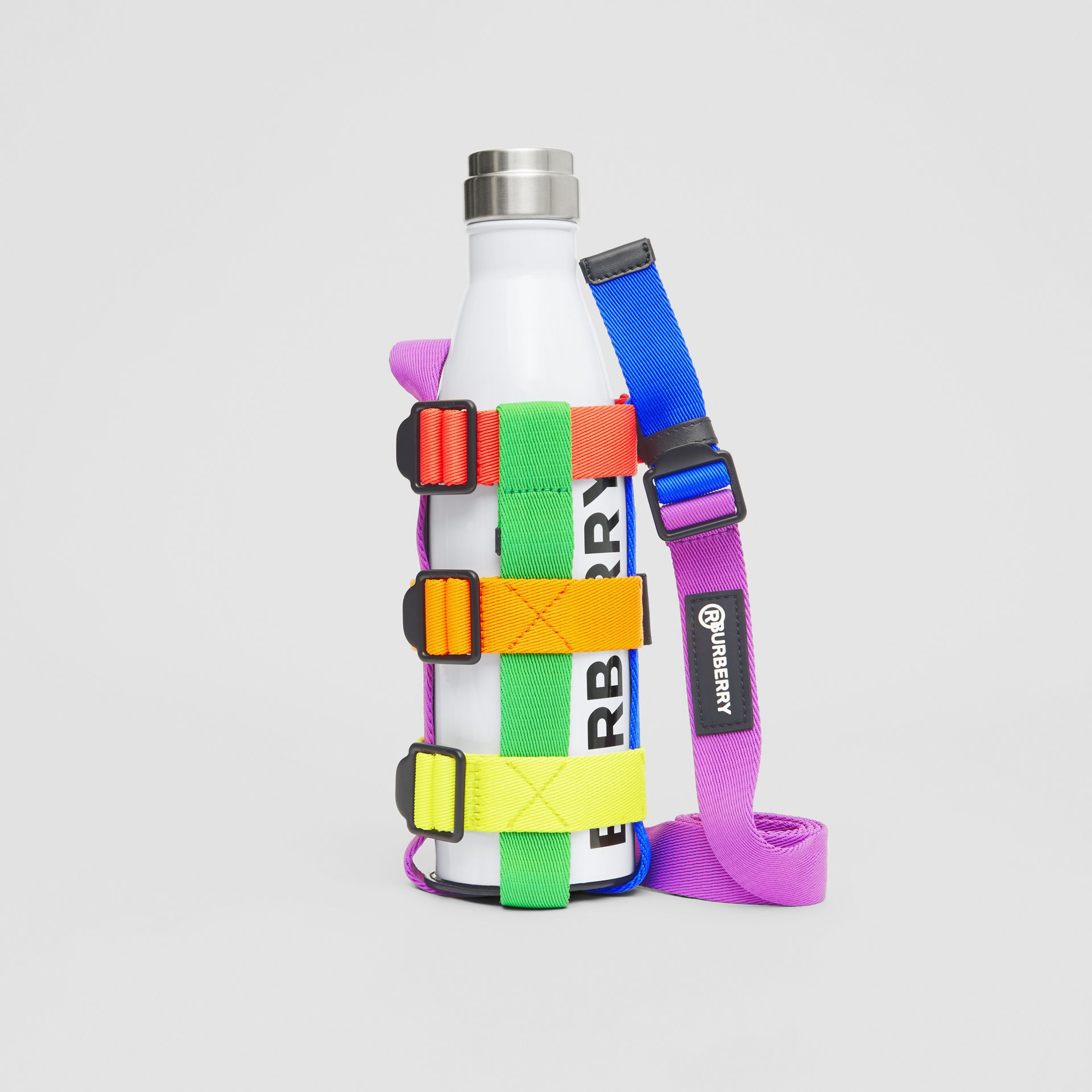 Rainbow Water Bottle Holder in Black/multicolour | Burberry United Kingdom - gallery image 3
