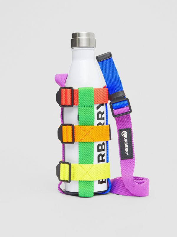 Rainbow Water Bottle Holder in Black/multicolour | Burberry United Kingdom - cell image 3