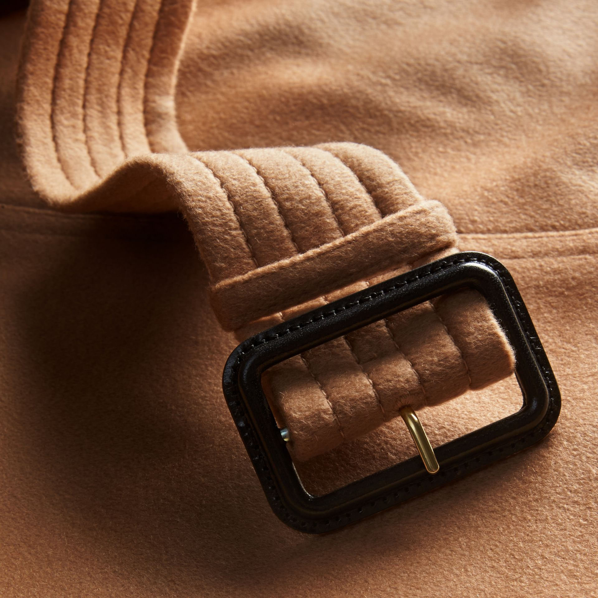 Sandringham Fit Cashmere Trench Coat Camel - gallery image 2