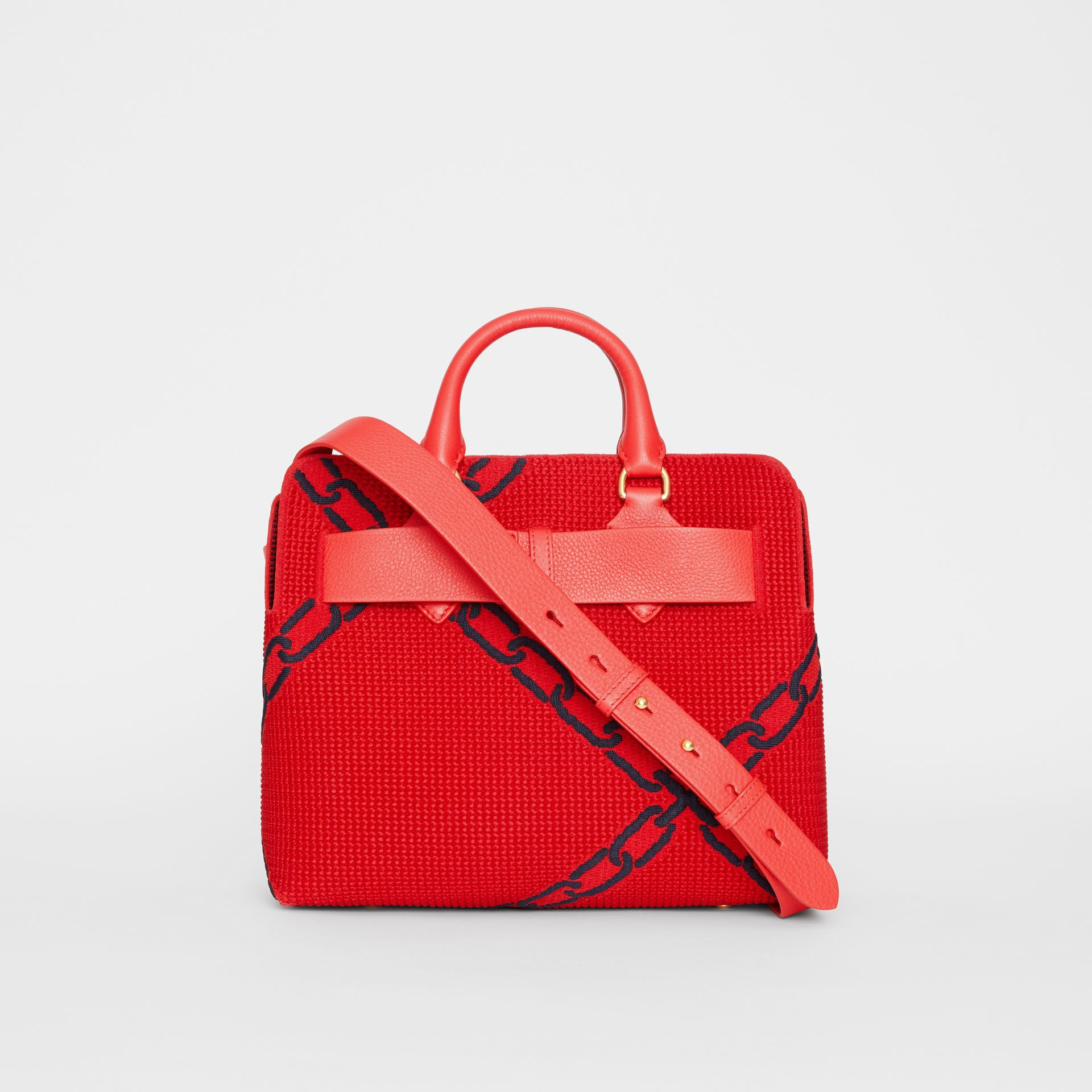 The Small Knitted Link Belt Bag in Bright Red/blue - Women | Burberry - gallery image 5