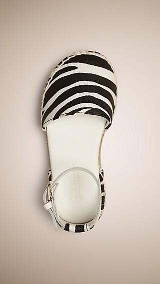 Zebra Print Espadrille Sandals