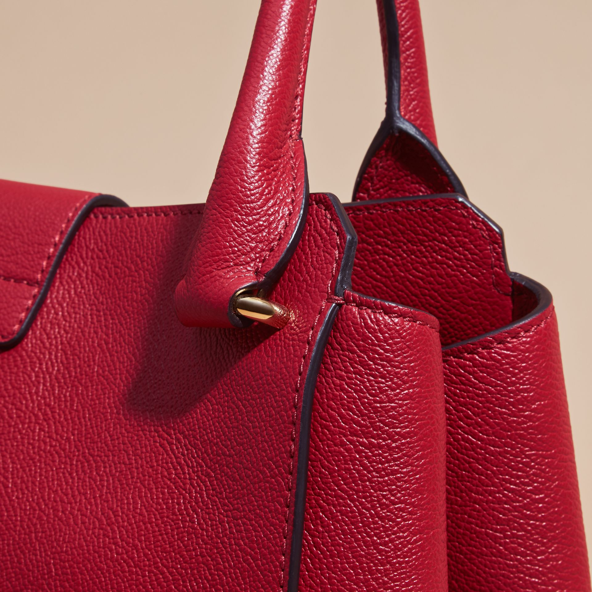 The Medium Buckle Tote in Grainy Leather in Parade Red - Women | Burberry - gallery image 2
