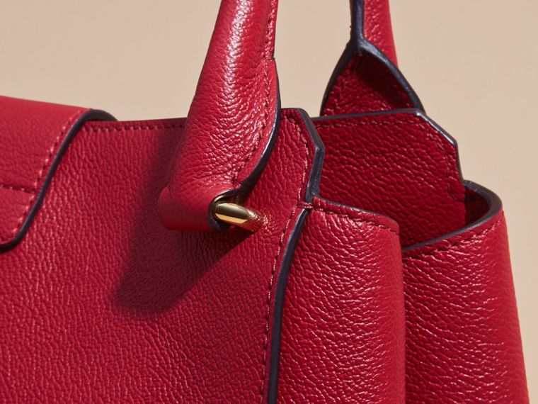 The Medium Buckle Tote in Grainy Leather in Parade Red - Women | Burberry - cell image 1