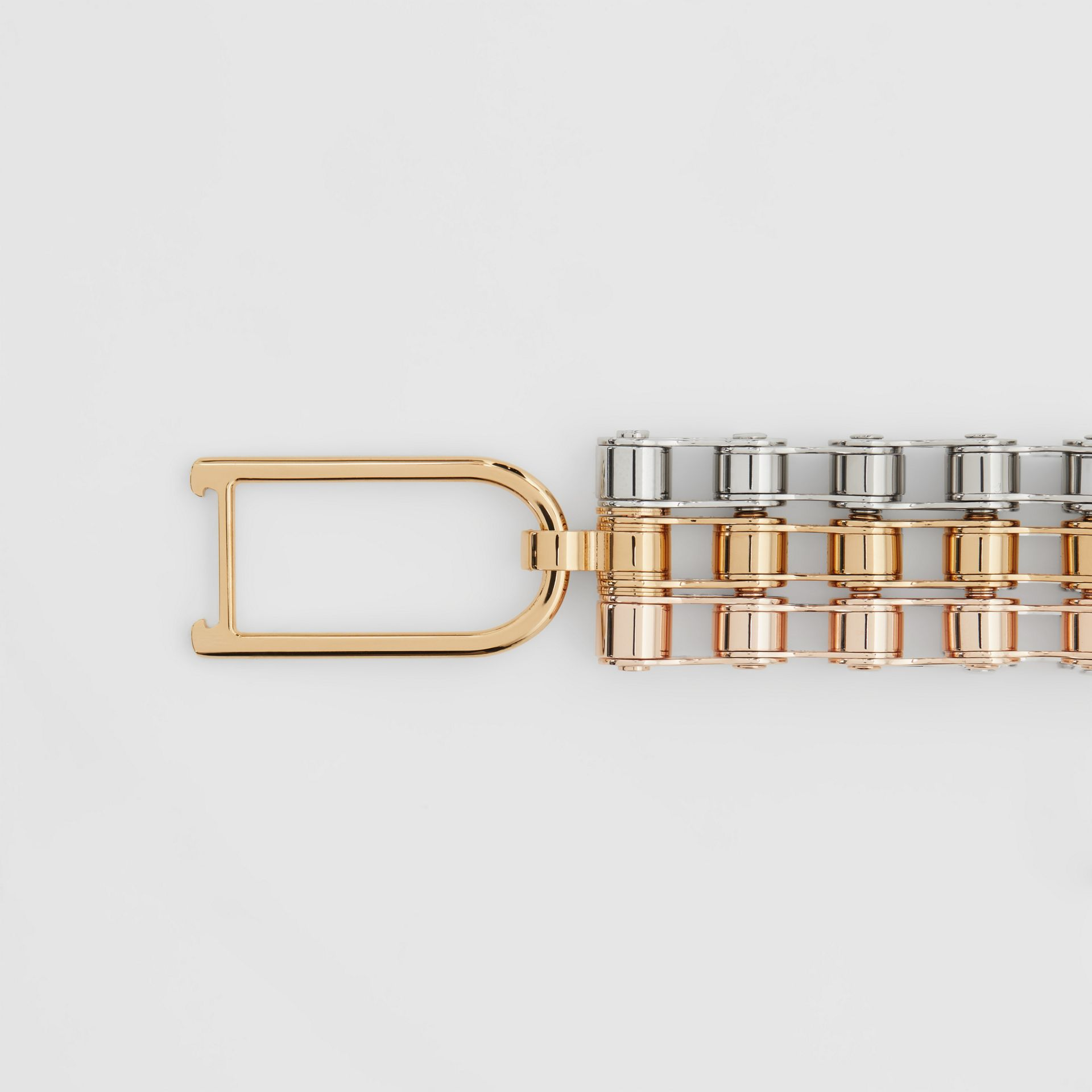 Bicycle Chain Gold and Rose Gold-plated Bracelet in Gold/pallad - Women | Burberry - gallery image 2