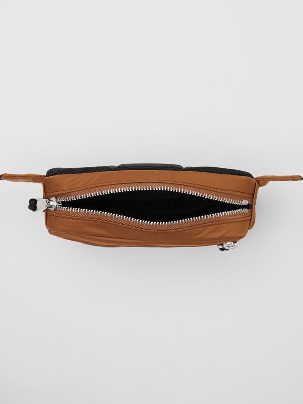 Mini Logo Print Bum Bag in Dark Camel | Burberry - cell image 3
